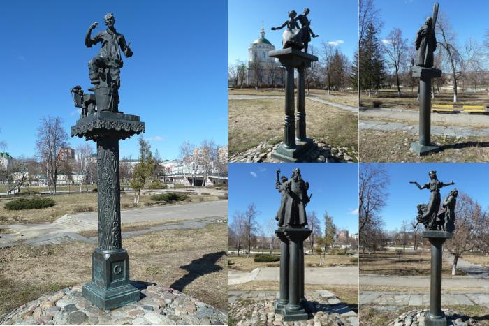 skulptury-geroev-literaturnyh-proizvedenij-n-s-leskova-700x467