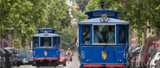 Голубой трамвай и фуникулер Тибидабо