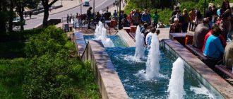 Каскад фонтанов на Петровском спуске
