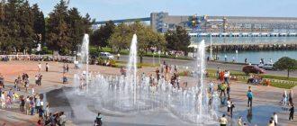 Светомузыкальный «сухой» фонтан «Туапсинский маяк»